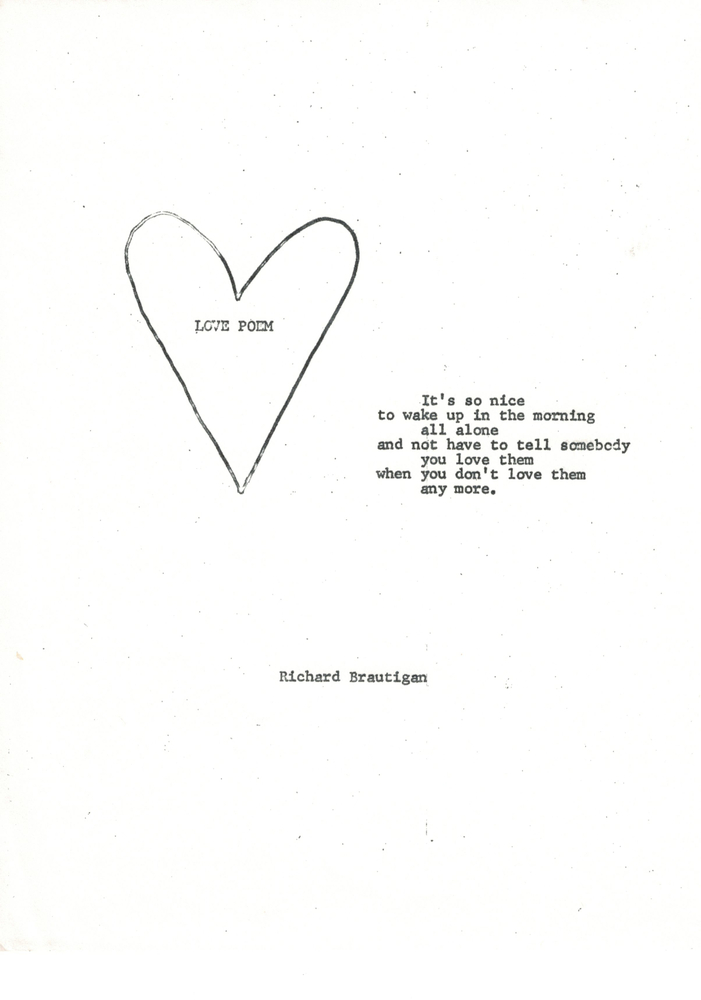 Richard Brautigan Poems 3